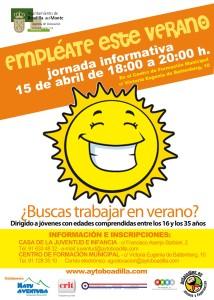 Cartel Empléate en Verano 2015