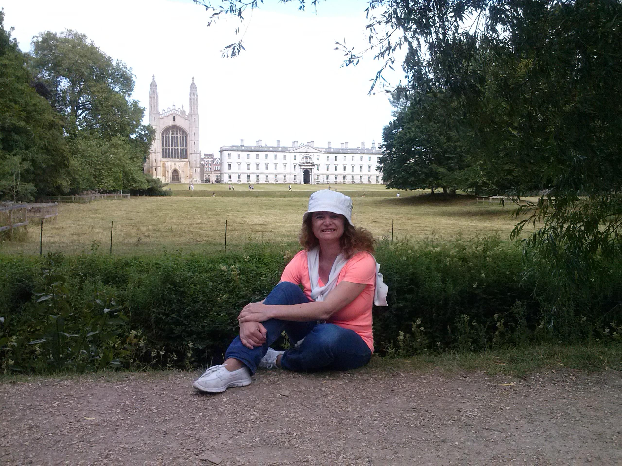 Silvina en la Universidad de Cambridge